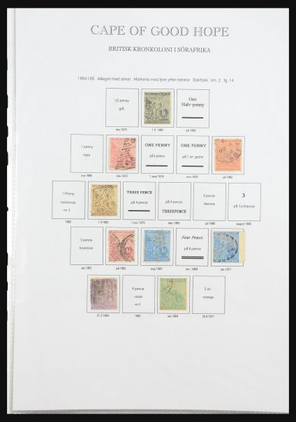 Stamp collection 31385 British colonies in Africa 1864-1980.