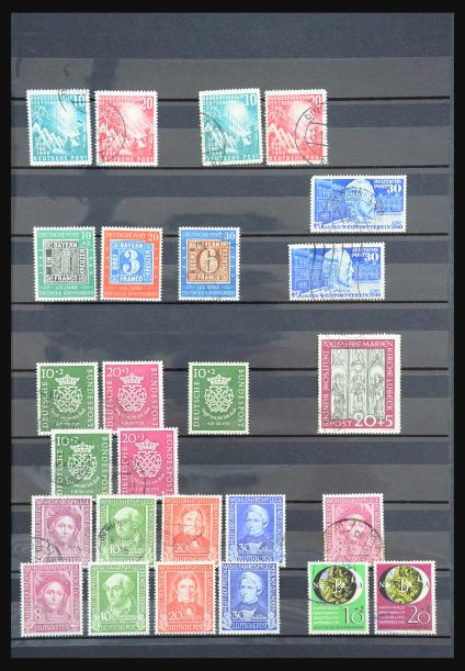 Stamp collection 31396 Bundespost 1949-1959.