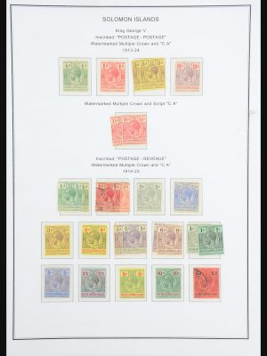 Stamp collection 31413 Solomon Islands 1913-1986.