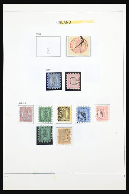 Stamp collection 31427 Finland 1856-1990.