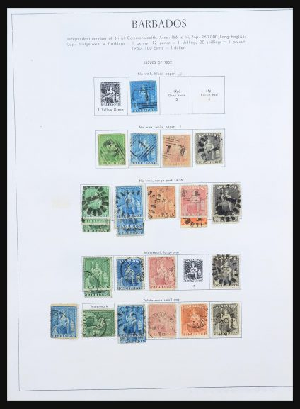 Stamp collection 31429 Barbados 1852-1979.