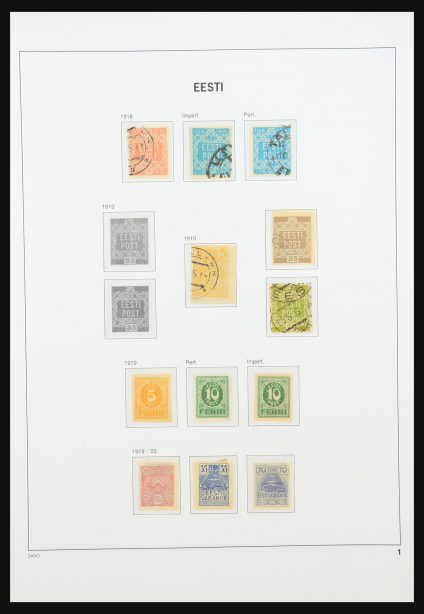 Stamp collection 31436 Baltic States 1918-2006.