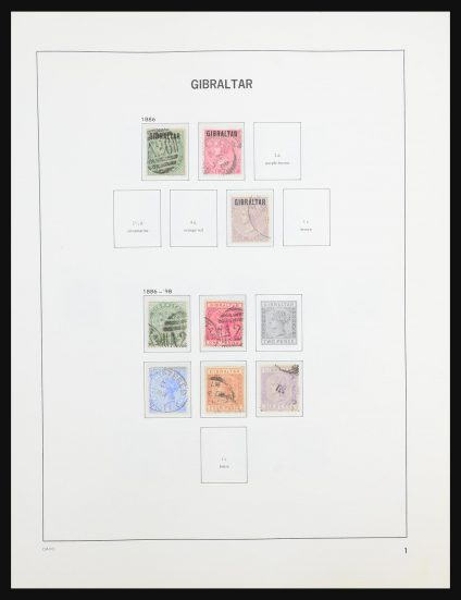 Stamp collection 31437 Gibraltar 1886-1995.