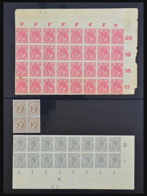 Stamp collection 31471 Netherlands blocks of 4 1891-1999.