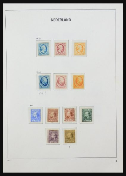 Stamp collection 31472 Netherlands 1852-1952.