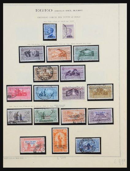 Stamp collection 31485 Aegean Islands 1912-1944.