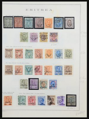Stamp collection 31489 Eritrea 1893-1951.