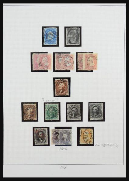 Stamp collection 31507 USA 1861-1972.
