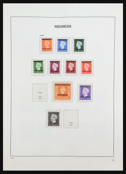 Stamp collection 31521 Indonesia 1949-2005.