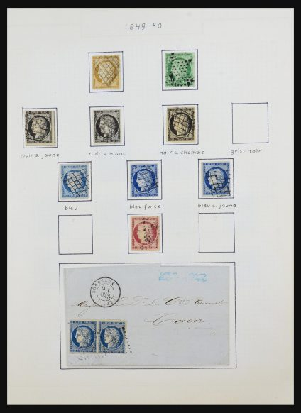 Stamp collection 31525 France 1841-1973.