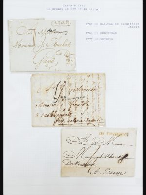 Stamp collection 31526 France covers and cancels 1725 (!)-1900.