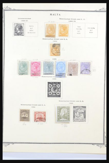 Stamp collection 31533 Malta 1863-1991.