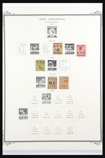 Stamp collection 31535 French colonies 1881-1190.