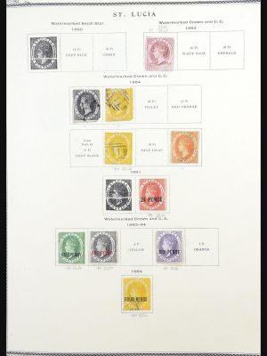 Stamp collection 31540 St. Lucia 1863-1992.