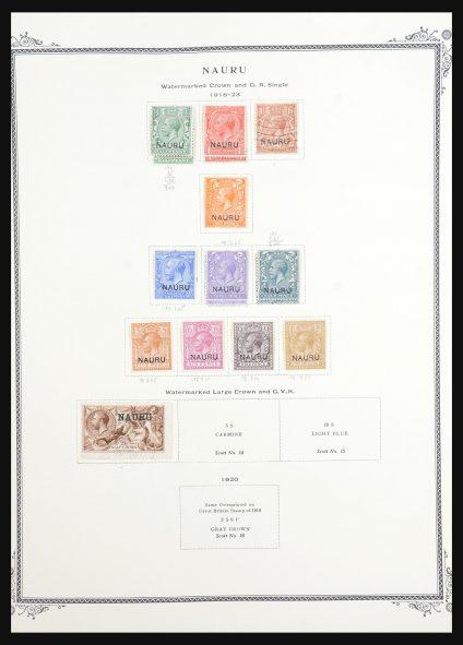 Stamp collection 31543 Nauru and New Hebrides 1908-1993.