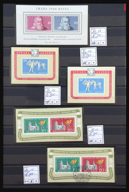 Stamp collection 31547 Switzerland.