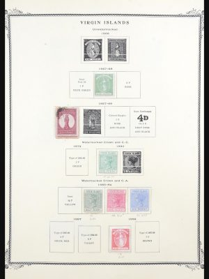 Stamp collection 31552 British Virgin Islands 1867-2000.