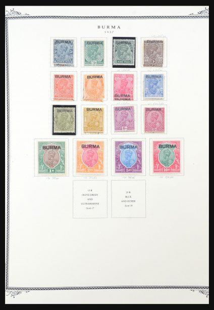 Stamp collection 31553 Burma and Ceylon 1857-1991.