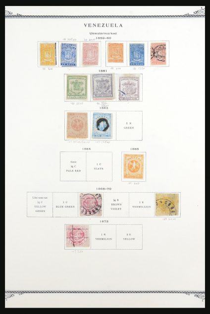 Stamp collection 31554 Venezuela 1859-1983.