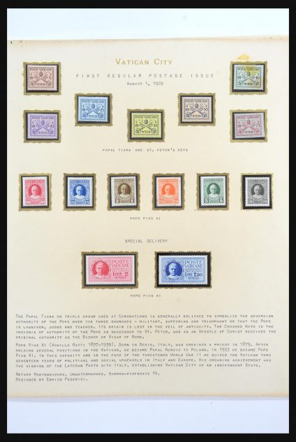Stamp collection 31556 Vatican 1929-1958.