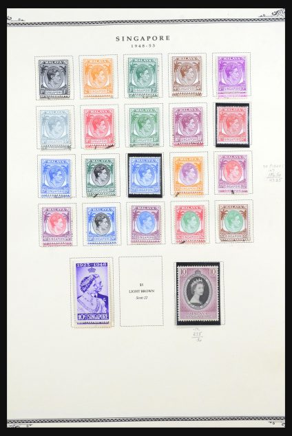 Stamp collection 31561 Singapore 1948-1984.