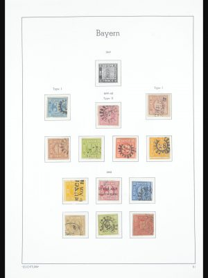 Stamp collection 31563 Bavaria 1850-1920.