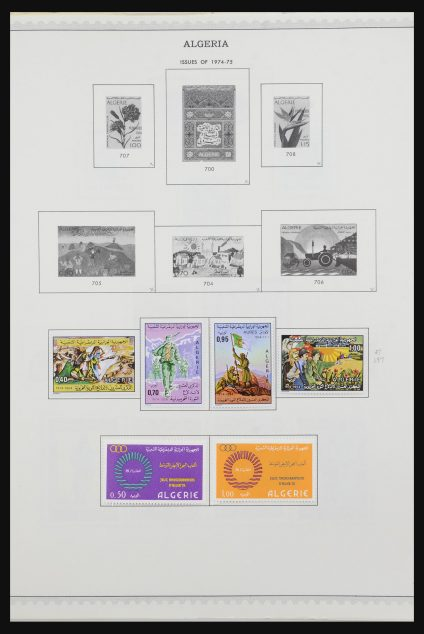 Stamp collection 31576 African countries 1960-1984.