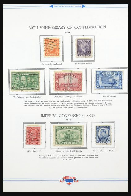 Stamp collection 31582 Canada 1927-1985.