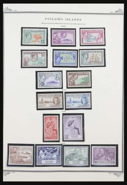 Stamp collection 31603 British territories in the Pacific 1903-2002.