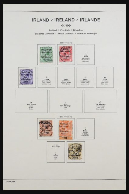 Stamp collection 31645 Ireland 1922-1989.