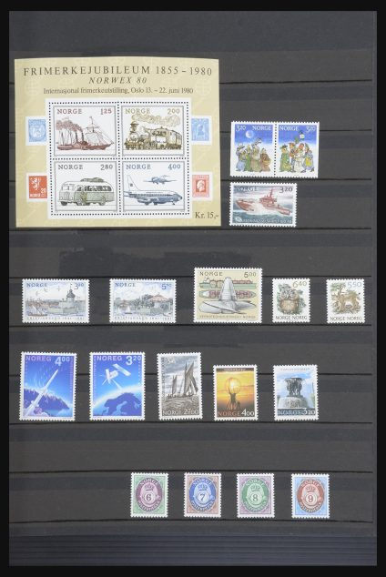 Stamp collection 31664 Norway 1976-1991.