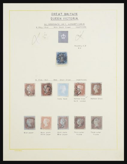 Stamp collection 31685 Great Britain 1840-1901.