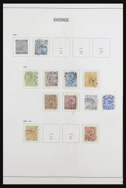 Stamp collection 31688 Sweden 1855-1980.