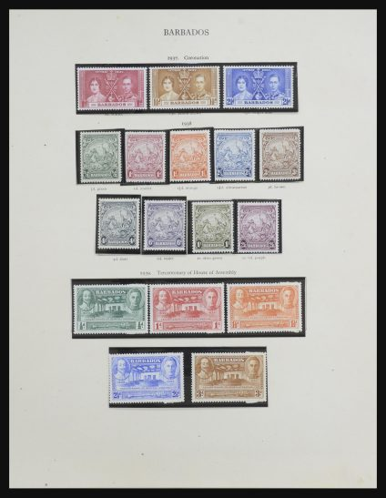 Stamp collection 31697 Barbados 1937-1985.