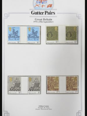 Stamp collection 31717 Great Britain gutterpairs 1976-1991.