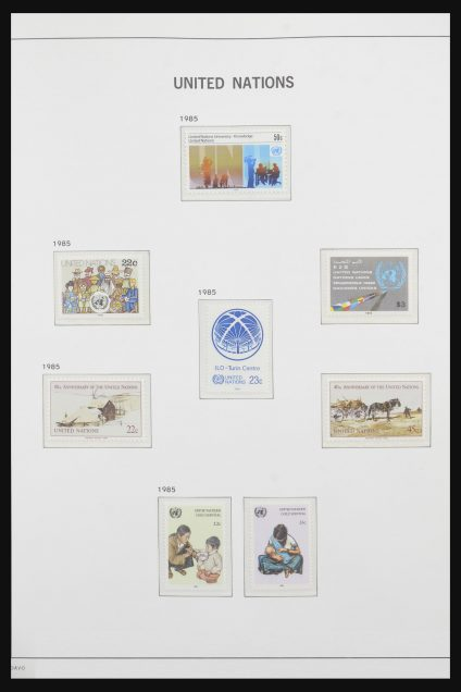 Stamp collection 31719 United Nations 1985-2015.