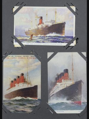 Stamp collection 31721 Thematic: Ships picture postcards 1910-1940.