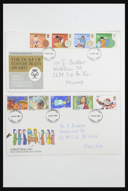 Stamp collection 31726 Great Britain and colonies covers and FDC's 1937-2001.