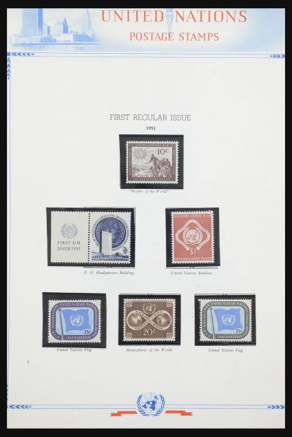 Stamp collection 31747 United Nations 1951-2008.