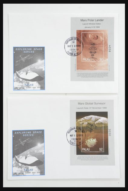 Stamp collection 31748 Palau/Micronesia/Marshall Islands FDC's '90s.