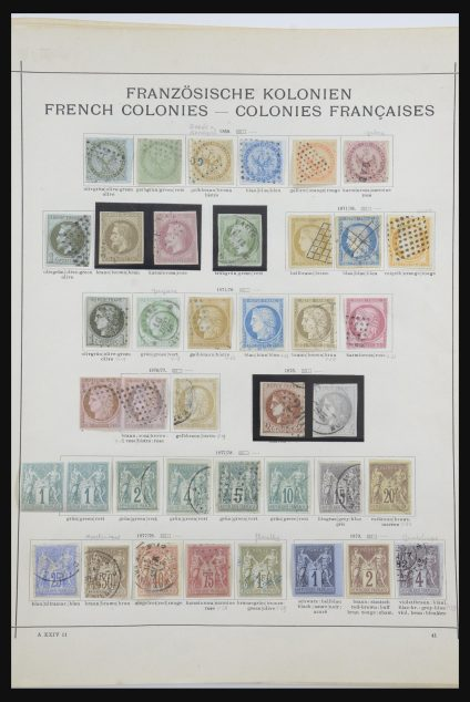 Stamp collection 31751 French colonies classic 1852-1901.
