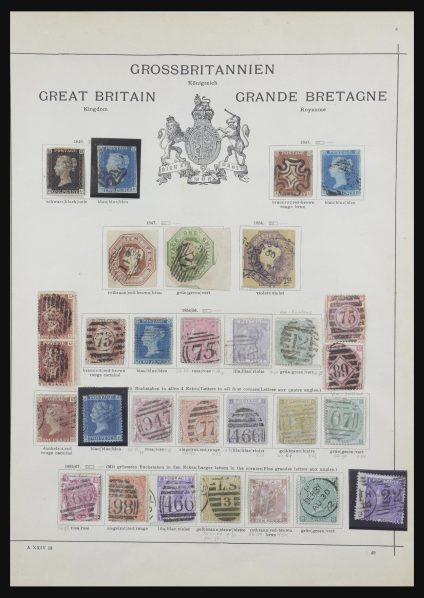 Stamp collection 31754 Great Britain 1840-1900.