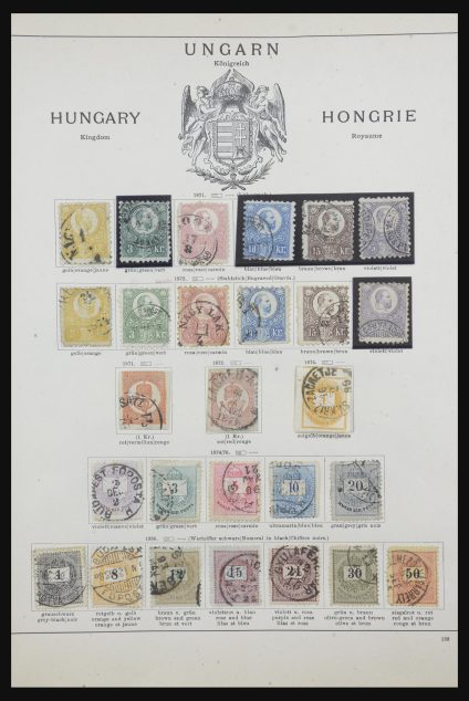 Stamp collection 31763 Balkan and Hungary 1871-1901.