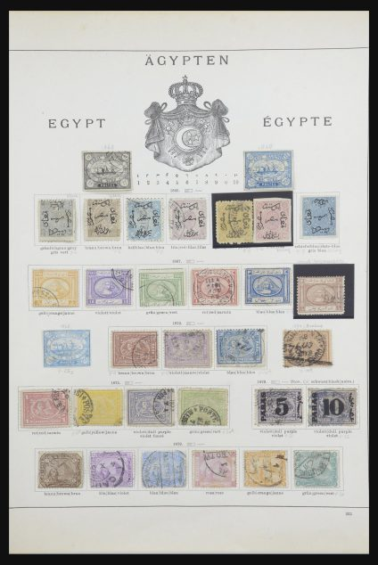 Stamp collection 31770 Egypt 1866-1893.