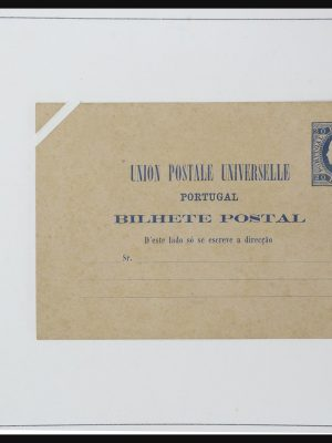 Stamp collection 31773 Portugal and colonies postal stationeries 1870-1910.