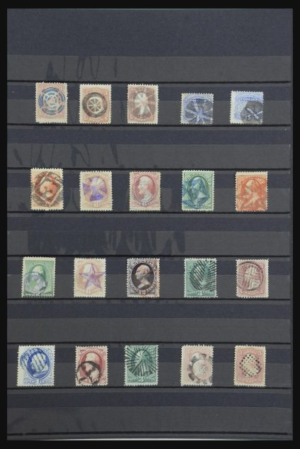 Stamp collection 31783 USA fancy cancels 1857-1893.
