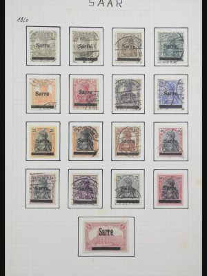 Stamp collection 31821 Saar 1920-1959.