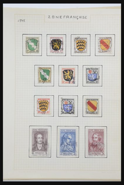 Stamp collection 31823 Germany 1945-1955.
