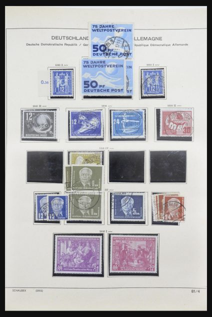 Stamp collection 31826 DDR 1949-1989.