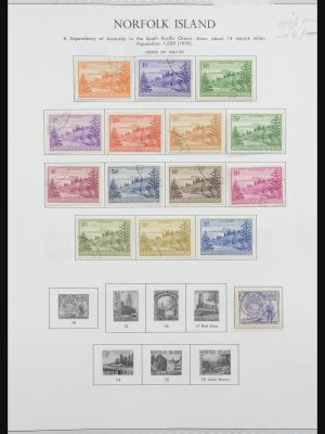 Stamp collection 31858 Norfolk Islands 1947-2000.